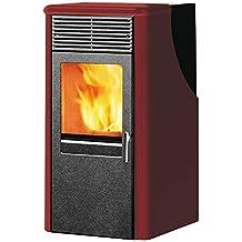 Estufa de pellets 8,2 kW de acero calefacción 215 mc casa Dotty2 burdeos