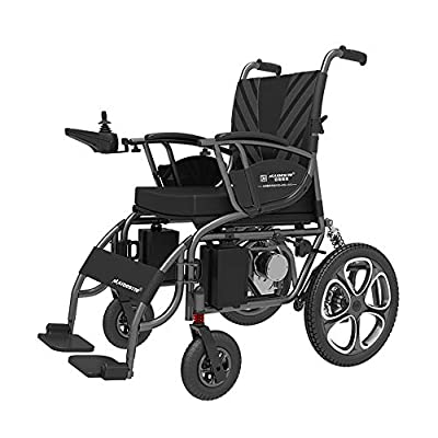 GYH Electric Wheelchair, Intelligent Remote Control Portable Care Scooter, Elderly Disabled Folding Wheelchair (#)
