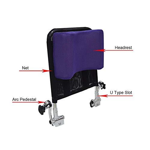41mhd51XIfL - Juanya Almohada ajustable para reposacabezas de silla de ruedas con tubo de mango trasero, soporte para el cuello de 16 a 20 pulgadas, color negro