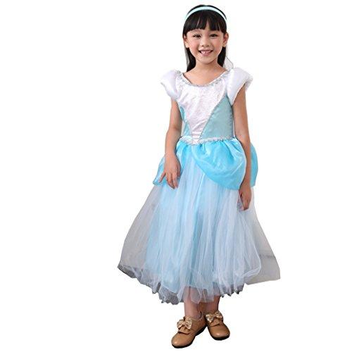 D'amelie Prinzessin Kostüm Kinder Glanz Kleid Mädchen Weihnachten Verkleidung Karneval Rollenspiele Party Halloween - Party D'halloween Mania-kostüm
