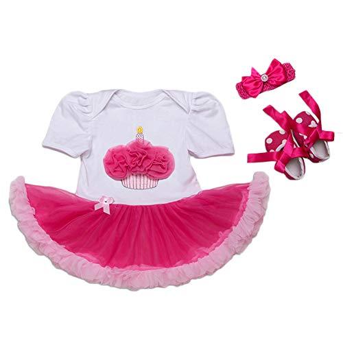(Bmeigo Toddler Baby Mädchen Romper Tütü Röckchen Kleider Set Party Outfits)