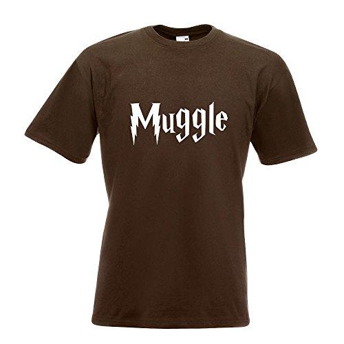 KIWISTAR - Muggle - Muggel T-Shirt in 15 verschiedenen Farben - Herren Funshirt bedruckt Design Sprüche Spruch Motive Oberteil Baumwolle Print Größe S M L XL XXL Chocolate