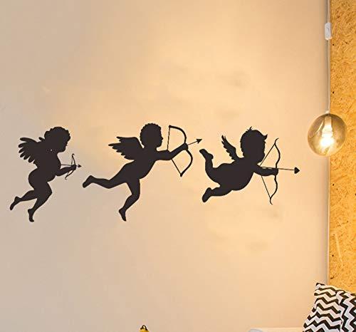 kdjshhs Wandaufkleber Amor PVC Wandaufkleber Schlafzimmer Wohnzimmer Dekoration Valentinstag Kinderzimmer Dekoration Wandaufkleber