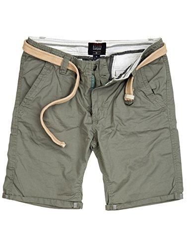 Trooper Herren Chino Shorts Bermuda kurze Hose, light olive, Größe L