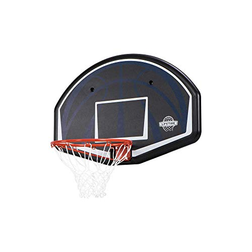 Lifetime Basketball Backboard Dallas Wandmontage 44 Zoll Basketballkorb mit Netz Basketball Backboard für Kinder Basketballbrett inklusive Korb und Netz Basketballring Indoor Outdoor