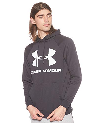 Under Armour Herren Rival Fleece Sportstyle Logo Hoodie Oberteil, Schwarz, Medium