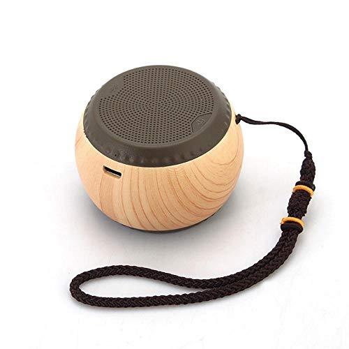Qpw Bluetooth-Lautsprecher Stahl Gun schweren Bass Mini aus Holz Schach Wireless-Lautsprecher 60 * 60 * 42,5 mm