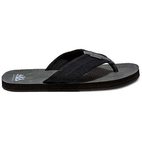 SUNDEK AM413ASPU500-004 Liam Flip Flip Black Infradito Nero Uomo Resistente all'Acqua - Calzata Comfort nero
