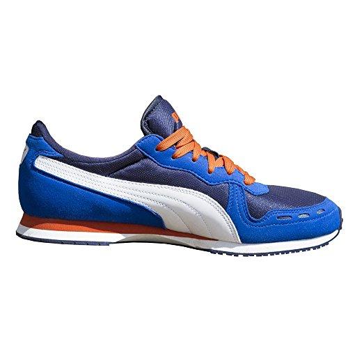 Puma - Cabana Racer Mesh JR - 35637208 - Couleur: Blanc-Bleu-Bleu marine - Pointure: 38.5