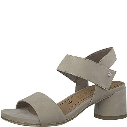 Tamaris Damen Sandaletten 1-1-28010-32, Frauen Sommerschuh,Riemen,elegant,feminin,Leichter Absatz,Touch-IT,Pepper,39 EU -