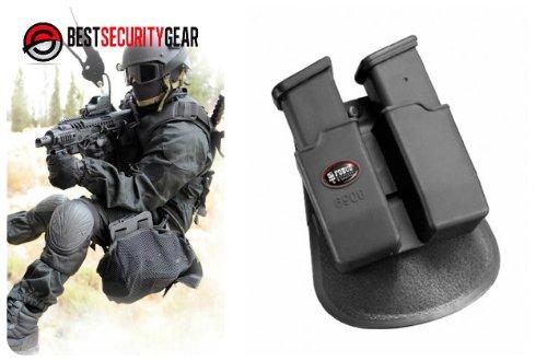 FOBUS Holster Doppel-Magazintasche für Sig Sauer .357 .40 cal / Glock 9mm .40 .357 .45 G.A.P / Heckler Koch H&K 9mm und .40 cal / Smith & Wesson SW M&P 9mm und .40 cal 6900 FOBUS + Best Security Gear Magnet