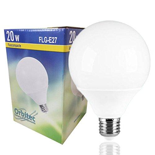 Globe Kompaktleuchtstofflampe E2720W D95mm 2700K Orbitec (Leuchtstofflampe Opal)