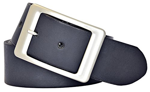 VANZETTI Damen Ledergürtel Made in Germany dunkelblau 95