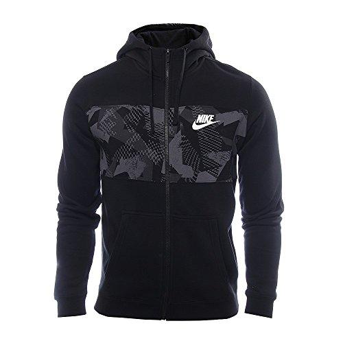 nike-herren-nsw-fleece-full-zip-hoodie-black-white-l