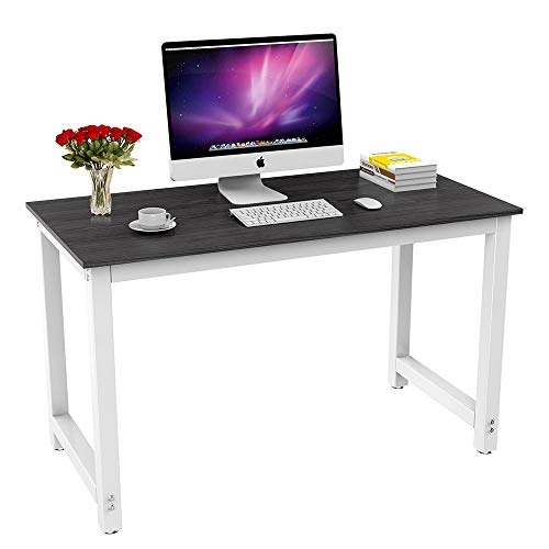 Yaheetech Computertisch, Schreibtisch Bürotisch Büromöbel Konferenztisch, Esstisch, robuster Metallgestell, für Home Office und Büro, 120 x 60 x 73 cm Schwarz - Home Büro-schreibtisch,