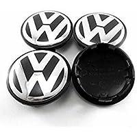 4 piezas 65 mm Rueda Center Hub Cap Cover Fit Para Volkswagen Golf Volkswagen Jetta Volkswagen