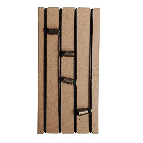 Traveler's Notebook Elastische Bänder - Sprungbänder für kleine Taschengröße, nachfüllbare Reisetagebücher (13 x 10 cm) - Verbindungsgurt-Ersatzteile, 4 Stück mit dekorativer Perle