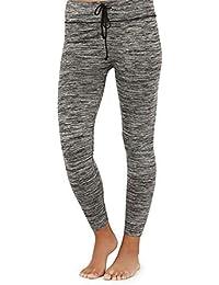 bf9c0ce5caf205 South Beach Ladies Grey Marl Seamless Gym Yoga Running Leggings with Tie  Waist Size M/