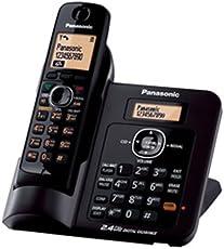 Panasonic Single Line 2.4GHz KX-TG3811SX Digital Cordless Telephone (Black)