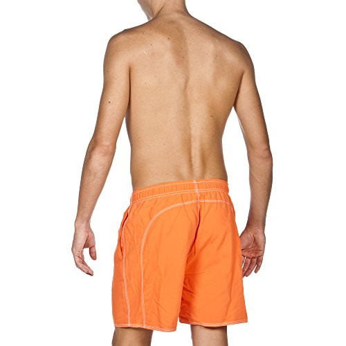 arena Herren Fundamentals Solid Boxer Badeshort Mango/Leaf