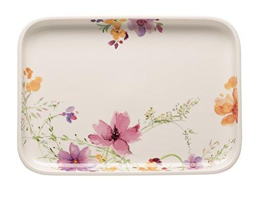 Villeroy & Boch 10-4163-3015 Mariefleur Basic Backform Servierplatte, 36 x 26 cm, Premium Porzellan