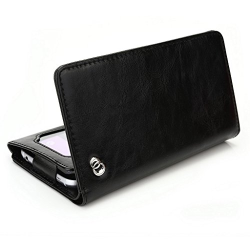 Kroo Portefeuille unisexe avec protection d'écran Gionee Elife E7Mini/Pioneer P4universel compatible avec différentes couleurs disponibles avec affichage écran Bleu - bleu noir - noir