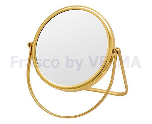 Frasco by VELMA - M-RS160-5x - Handgefertigter zweiseitiger Reise- Hand- Stand-Kosmetikspiegel...