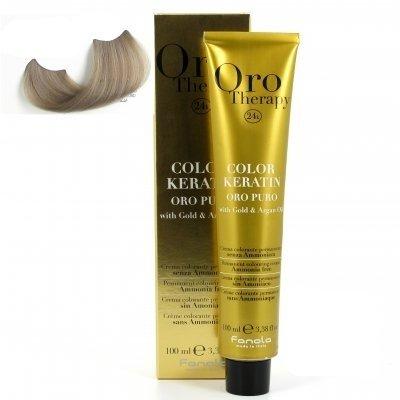 color keratin oro puro n°10.1 blond platine cendre 100 ml