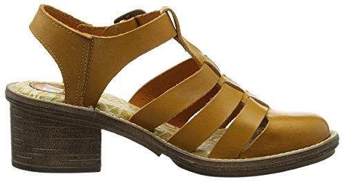 FLY London Celos511fly, Sandales ouvertes femme Marron - Braun (MUSTARD 003)
