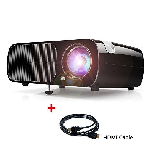 Beamer Heimkino LCD Projektor 2600 Lumen Multimedia Videoprojektor Unterstützt 1080P Full HD VGA USB SD AV mit Kostenlosem HDMI Kabel