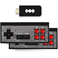 Gamenophobia Plug & Play Wireless HD 1080p TV Video Game for Kids (8 Bit Retro Built-in Games) for up to 2 Players HDMI…