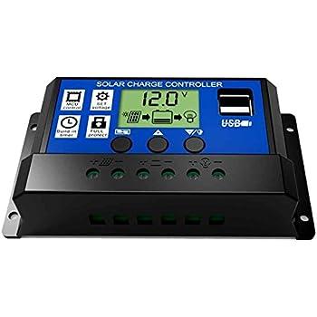 regolatore di batteria automatico dello schermo LCD del regolatore LCD del pannello solare 12V 24V dellABS Yctze Controller MPPT 30A