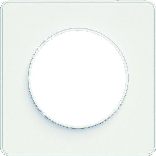 Schneider Electric SC5S52C802 Plaque 1 poste Odace Touch Liseré blanc