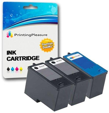 Dell 924 Drucker Tinte (3 Druckerpatronen für Dell All-In-One 922, 924, 942, Photo 944, 946, 962, 964 | kompatibel zu Dell Serie 5 (M4640 & M4646))