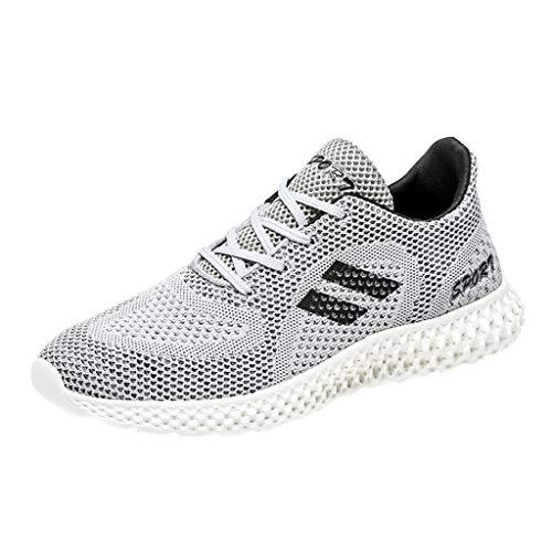 Kaister Herren Outdoor Sportschuhe SneakerAtmungsaktive leichte Laufschuhe Schnürschuhe Turnschuhe (Cowgirl-stiefel Größe Für Kinder 4)