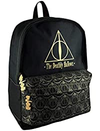 266f2a9c1030 Official Harry Potter Black Deathly Hallows Backpack School Bag