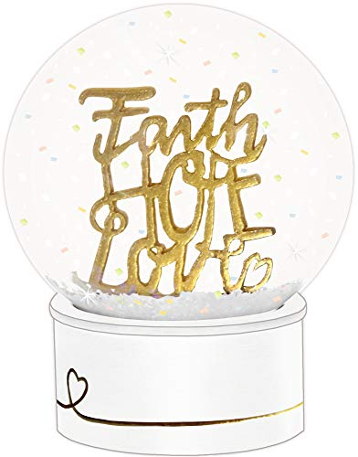 "Glitzerkugel ""Faith - Hope - Love\"""