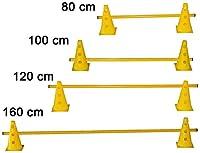 agility sport pour chiens - haie de coordination, 23 cm, jalon: 100 cm, jaune - 2x MZK23y 1x 100y