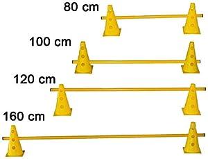 agility sport pour chiens - haie de coordination, 23 cm, jalon: 120 cm, jaune - 2x MZK23y 1x 120y