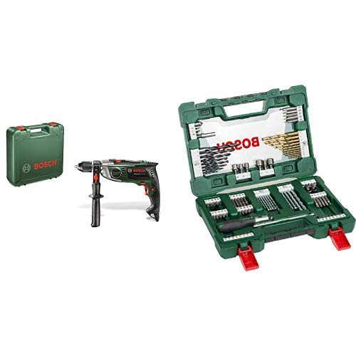 Bosch DIY Schlagbohrmaschine (Zusatzhandgriff, Tiefenanschlag, Koffer (900 W, max. Bohr-Ø: Holz: 40 mm, Beton: 18 mm, Stahl: 13 mm))