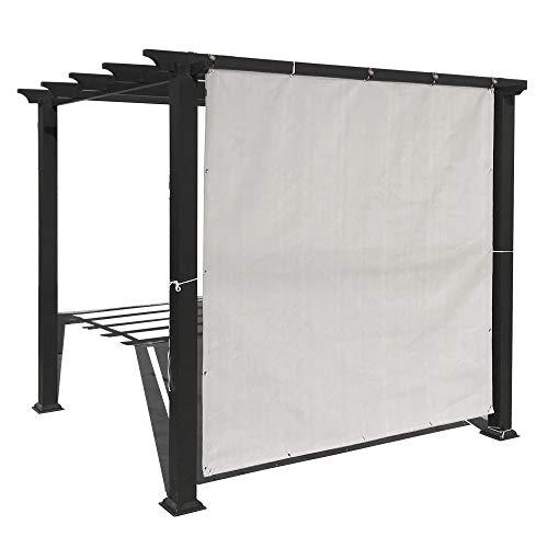 Alion Home Sonnenschutz Sichtschutz Panel mit Tüllen und Säume auf 4Seiten für Terrasse, Fenster, Pergola Oder Pavillon-Smoke Grau 10' x 12' -