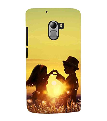 For Lenovo Vibe K4 Note :: Lenovo K4 Note A7010a48 :: Lenovo Vibe K4 Note A7010 little couple, heart, love symble, sunset Designer Printed High Quality Smooth Matte Protective Mobile Case Back Pouch Cover by APEX