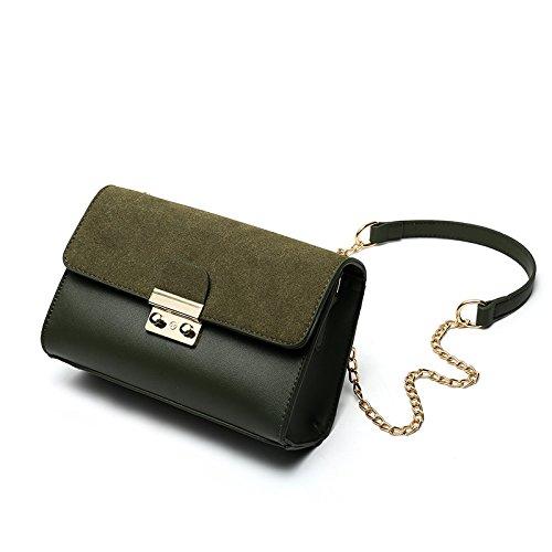 Syknb Einzelne Umhängetasche Handtasche Kette Kleine Tasche Passt Einfach Alles Green