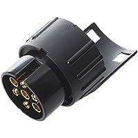 Gancho de Remolque Electrico Convertidor - SODIAL(R)7 a 13 Pin Adaptador Trailer 12V Caravana Camion Gancho de Remolque Electrico Convertidor N Tipo de Plastico