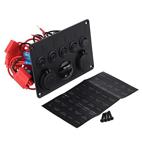KIMISS 12-24V 5-Botón Panel Conmutador Encendido/Apagado