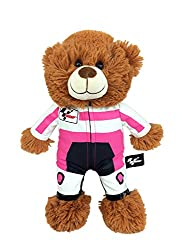 GabiToy MotoGP Plush Bear Racing Suit, Pink, One Size