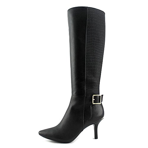 Calvin Klein Julietta Cuir Botte Black