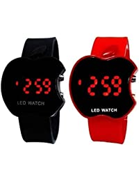 NEW LATEST APPLE BLACK AND APPLE RED COMBO ANALOG AND DIGITAL WATCH FOR BOYS AND GIRLS WITH THE BEST DEAL AND...