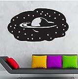 Qqasd Wandaufkleber Vinyl Dekoration Wandaufkleber Für Kinder Planet Saturn Universum Kosmos Stern 45X60 Cm