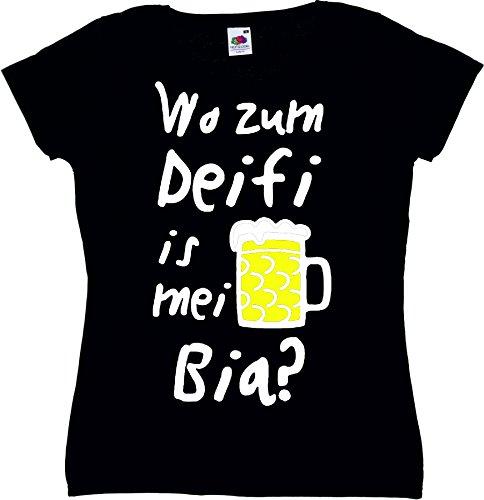 T-Shirt Oktoberfest Wiesn München Junggesellenabschied für Frauen Männer und Kinder in allen Größen XS bis 4XL oder Kinder 104 bis 164 Motiv Nr.44 Damen-Schwarz